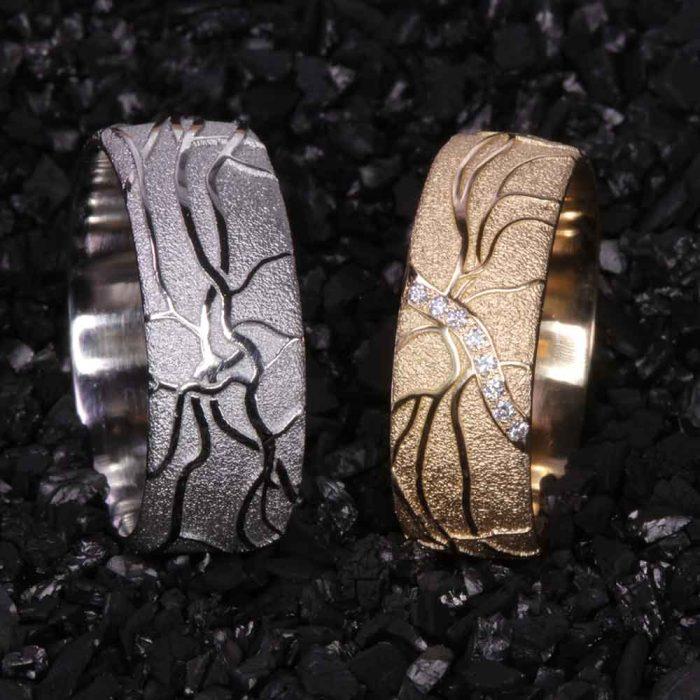 platin-gelbgold-brillanten-retina-einzigartig-Goldschmiede-Basel-Juwelier-nachhaltig-fairtrade-spezielle-Ringe-individuelle-designs-handgefertigt
